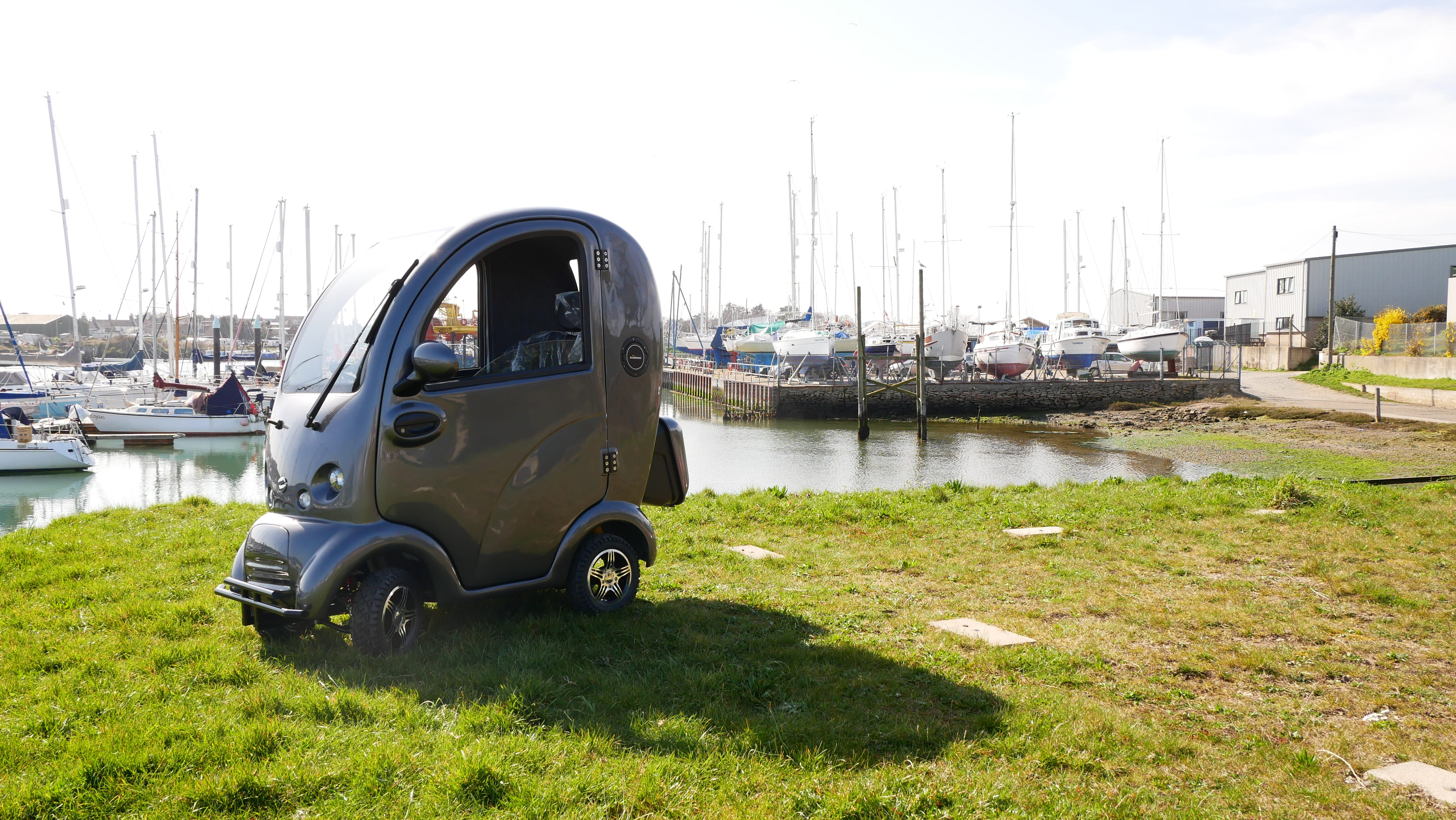 Scooterpac Cabin Car in exclusive bespoke grey colour