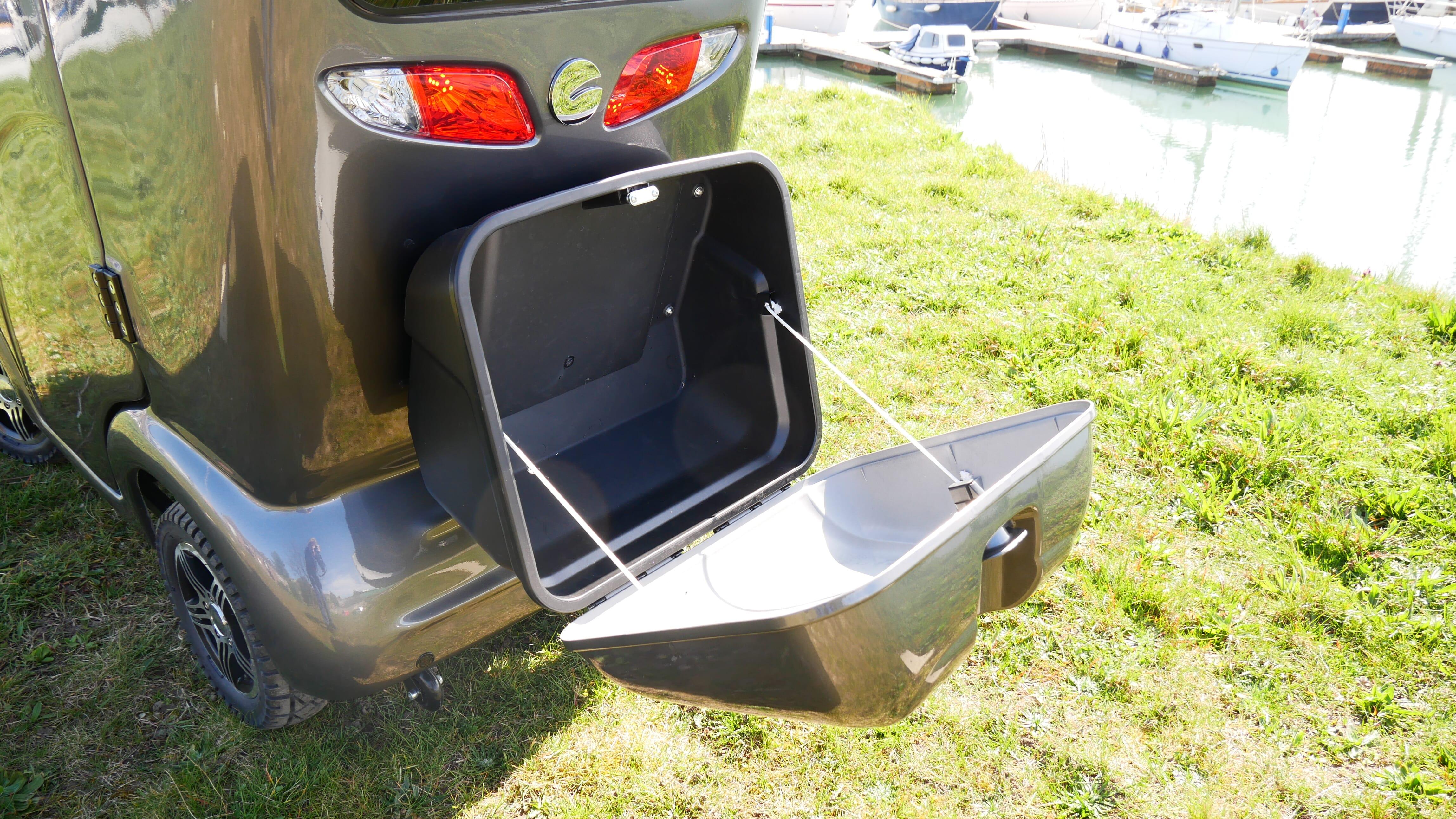 Scooterpac Cabin Car lockable storage box open